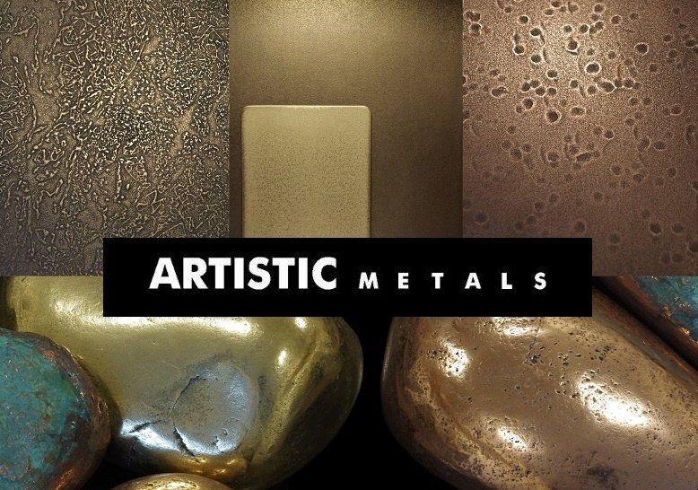 Metal veneer coatings and finishes. Contact Artistic Metals on 01825 763485 Uckfield, East Sussex. UK