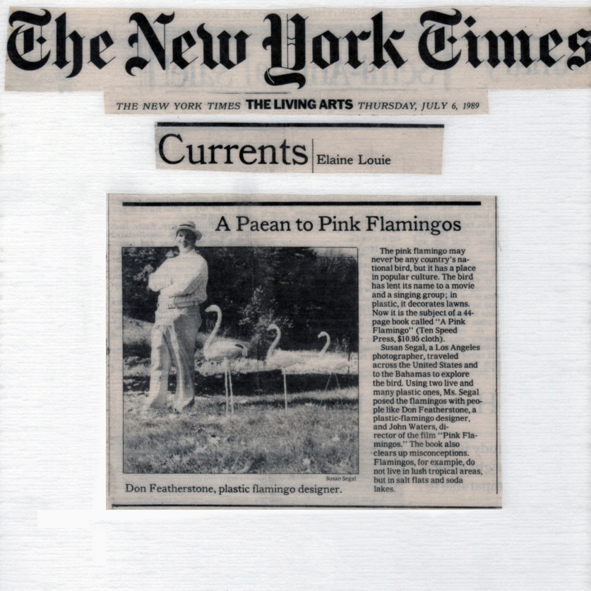 A Pink Flamingo - NY Times Review 1989