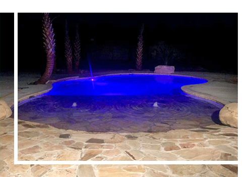 Pool With Blue Lighting