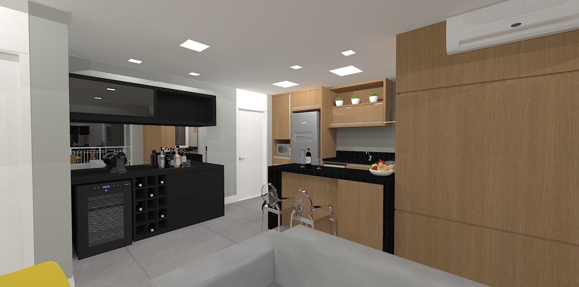 3D/Cozinha - Campo Belo