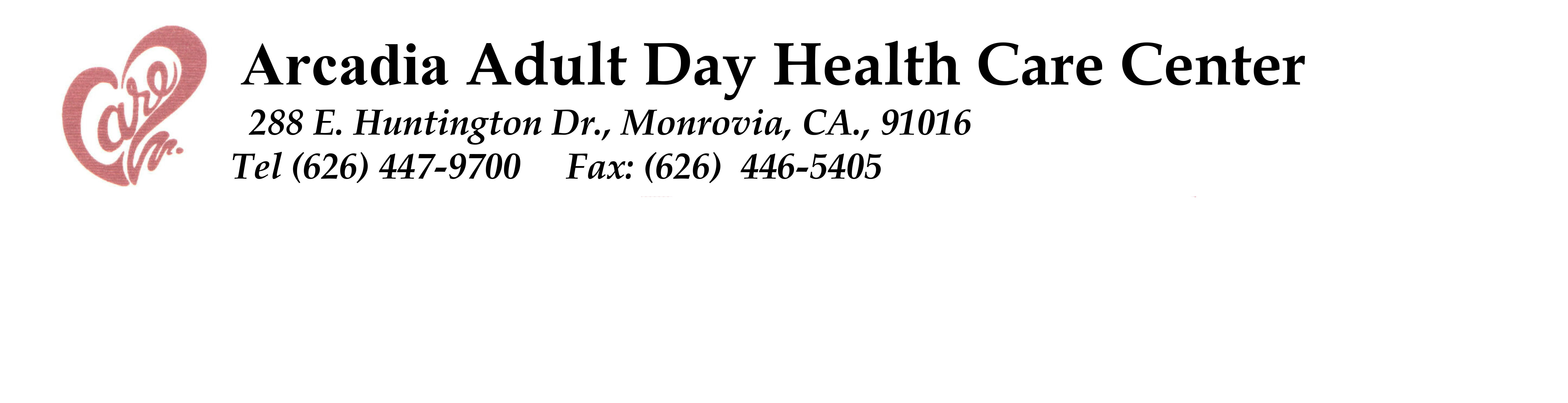 Arcadia Adult Day Health Care  Center