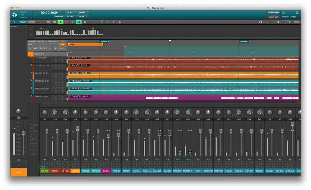 multitrack recording hire
