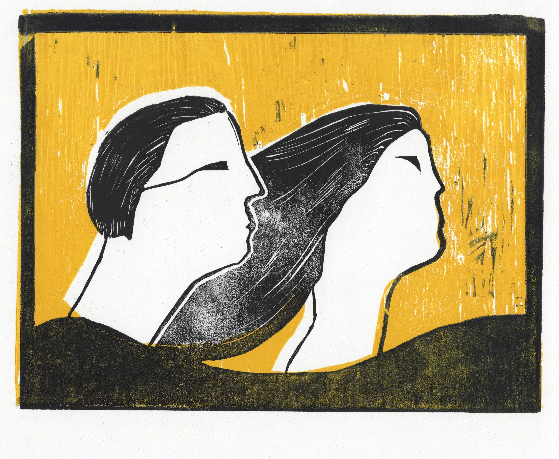 La decepción, 2003 Grabado en madera sobre papel 20 x 30 cm