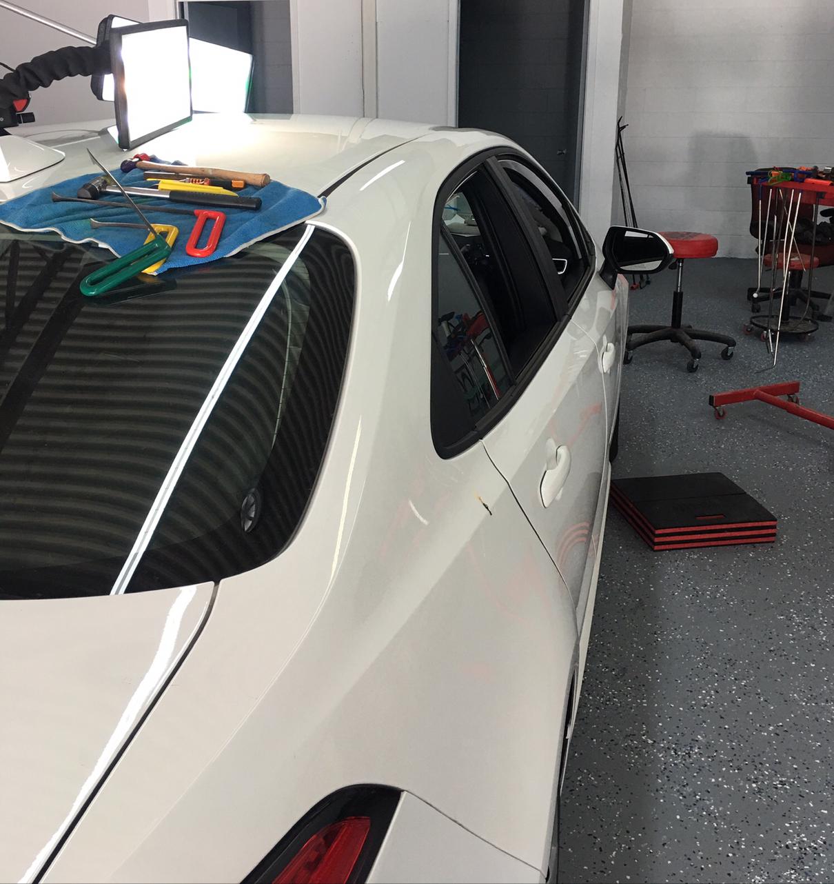 White Sedan Back