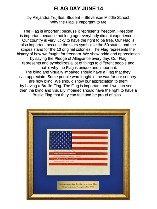 ||||Flag Day by Alejandra Trujillos - Stevenson Middle School