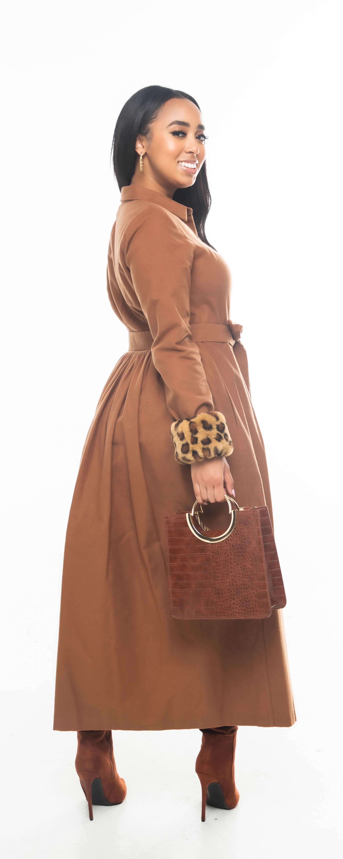 Cocoa Flannel Dress
