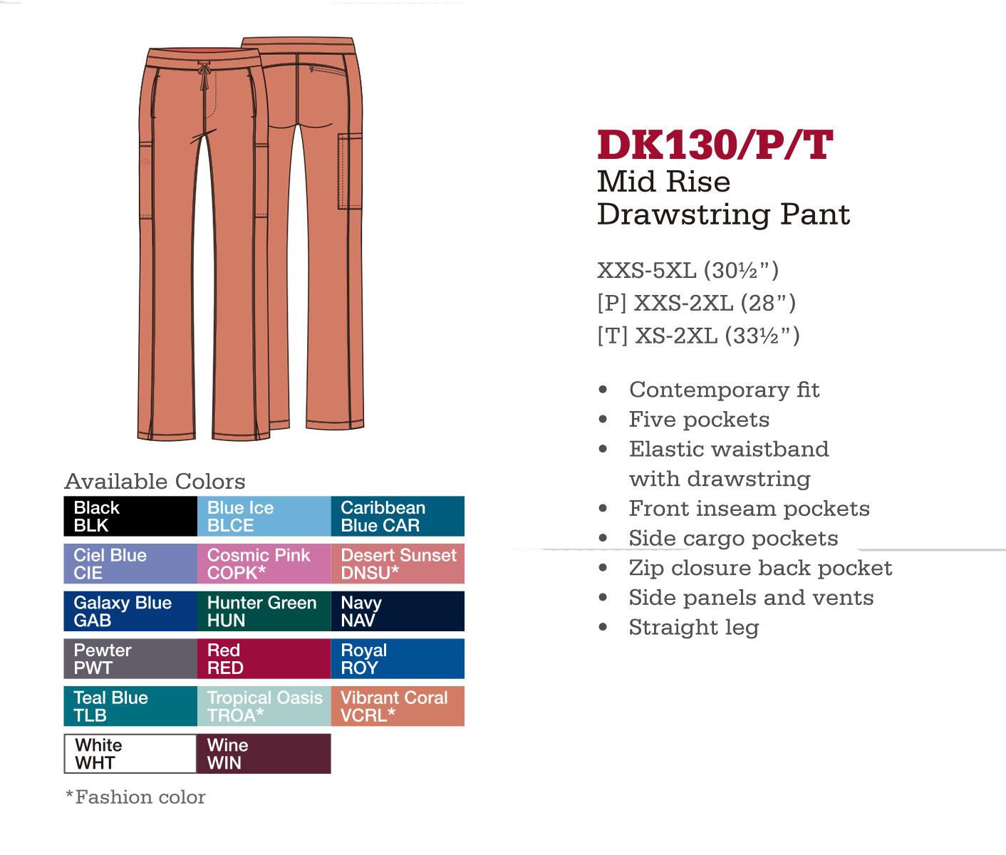 Pantalón con Cordones de Medio Levantado. DK130/P/T.