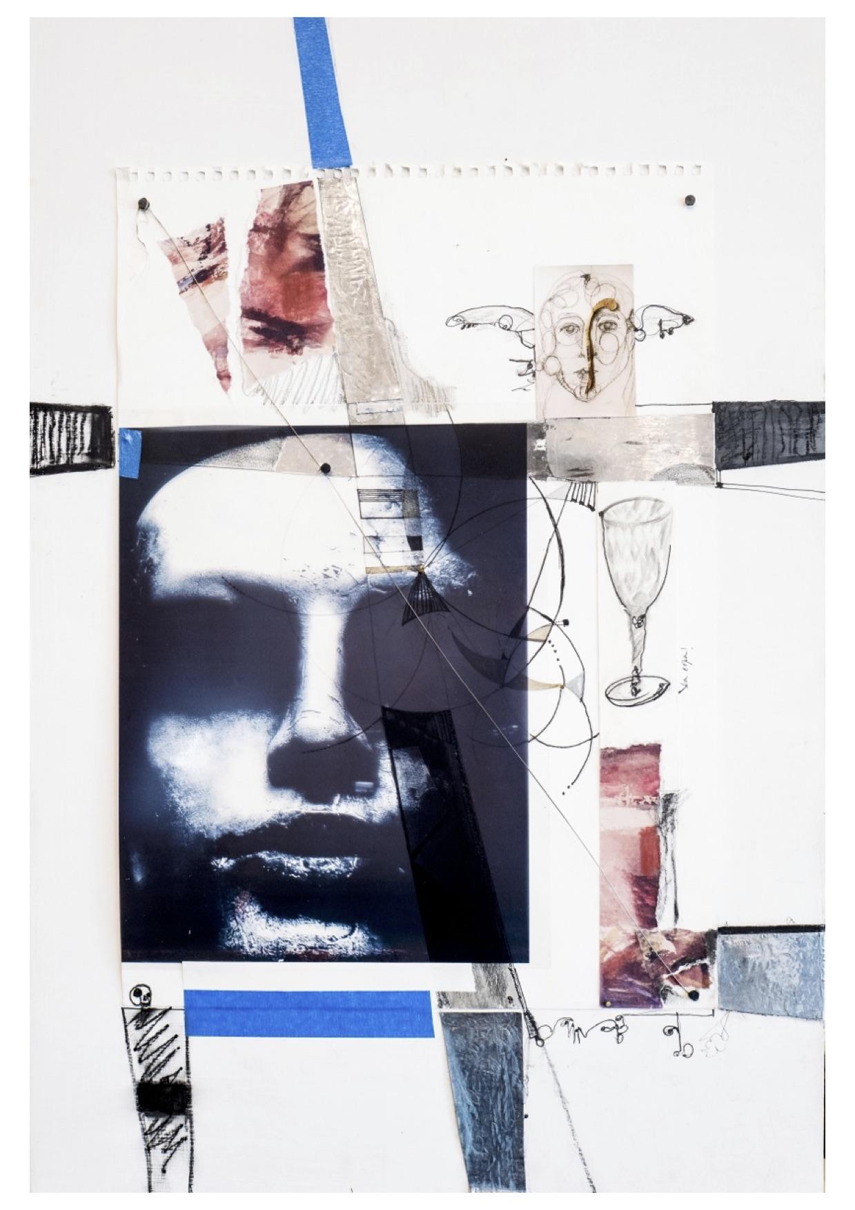 A ciegas Collage 40X60 cm 2017 Vendido