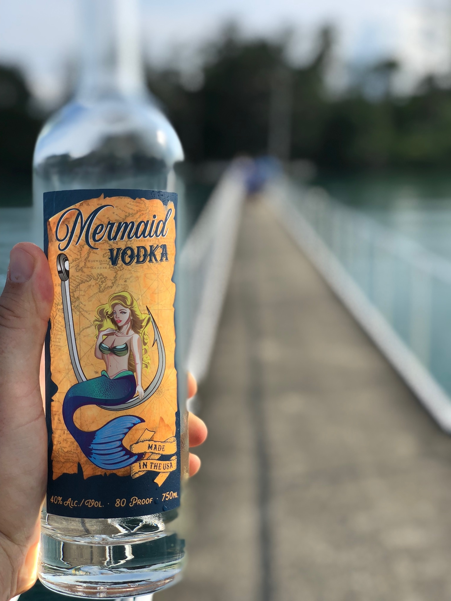 Bottle of Mermaid Vodka