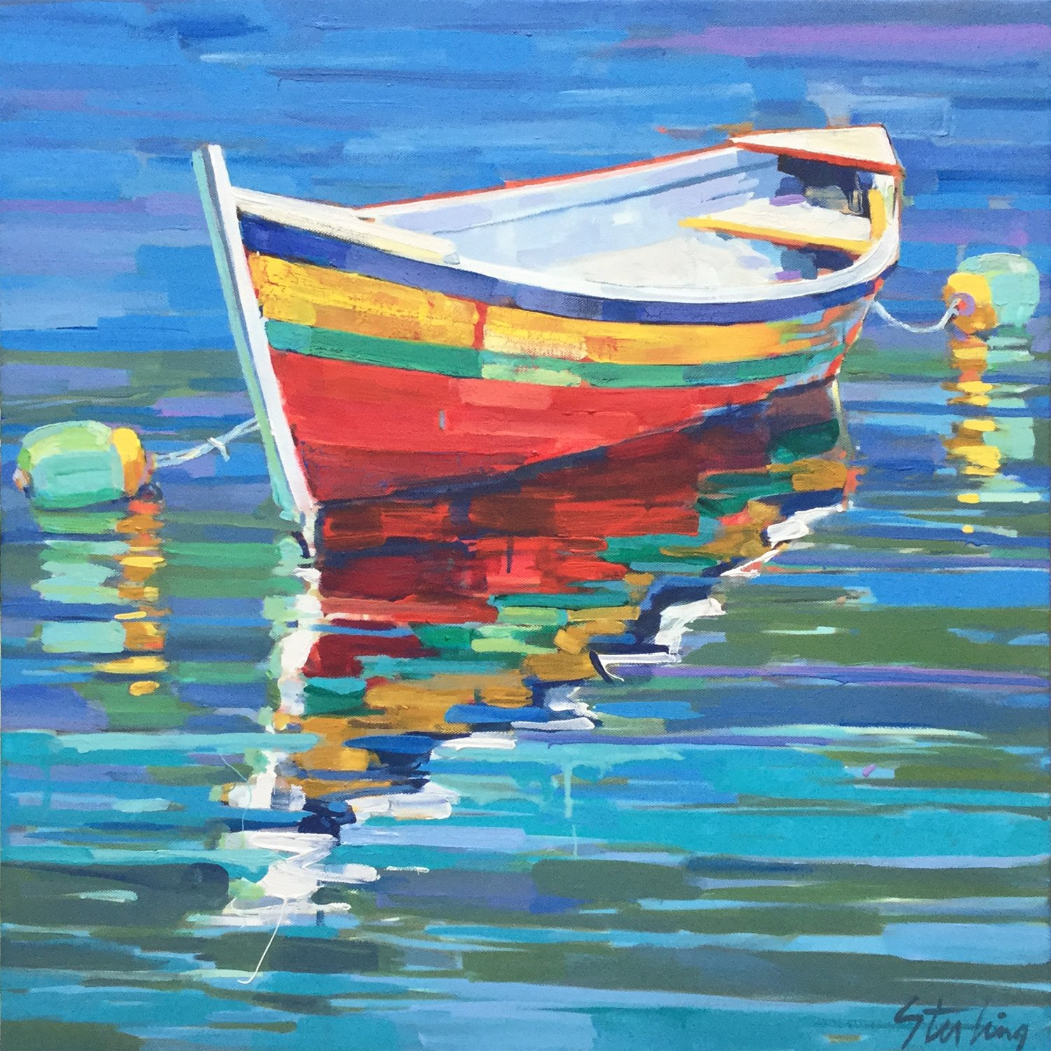 Safe Harbor acrylic on canvas 24x24