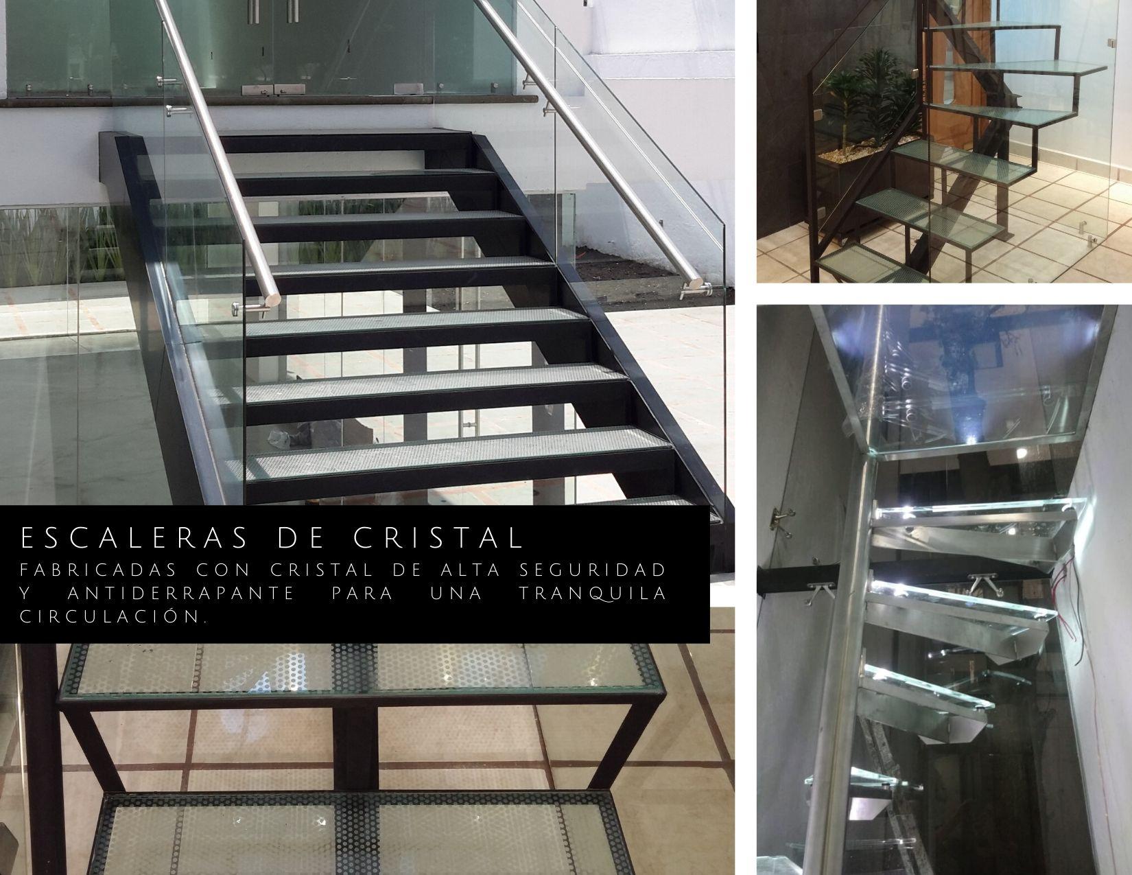 Escaleras de cristal
