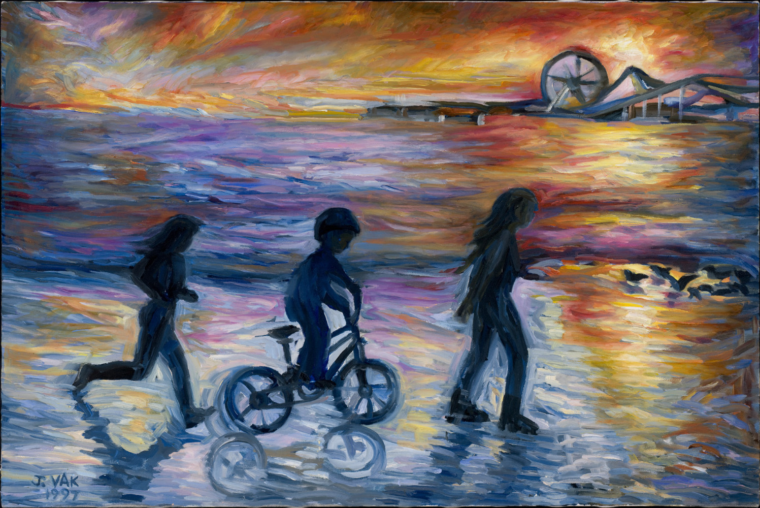 Santa Monica Pier  24 X 36 Original Oil         $2850            1997
