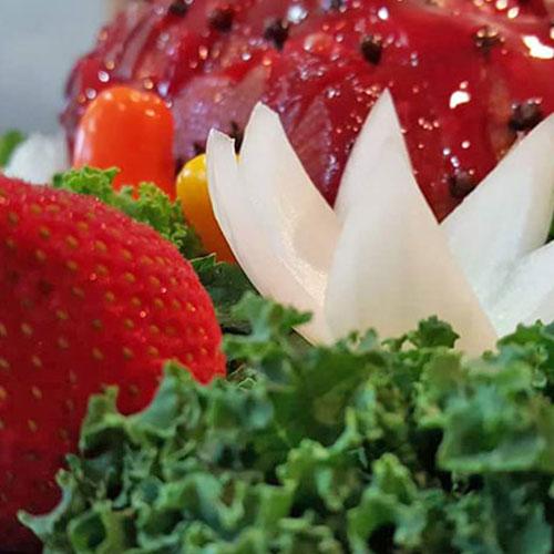 Ham and Strawberries