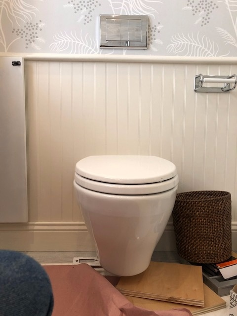 Newly Installed Toilet Bowl