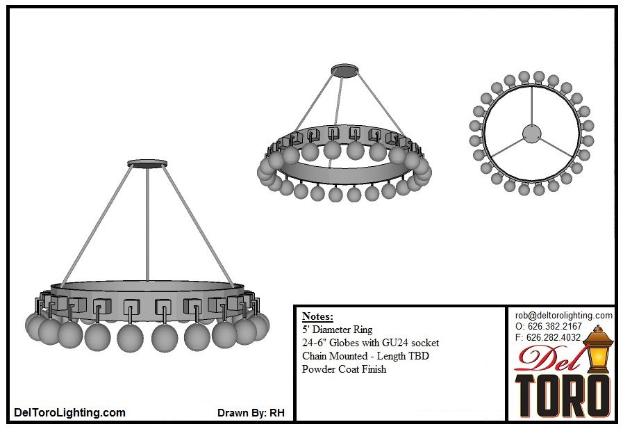 020P-Globe Chandelier