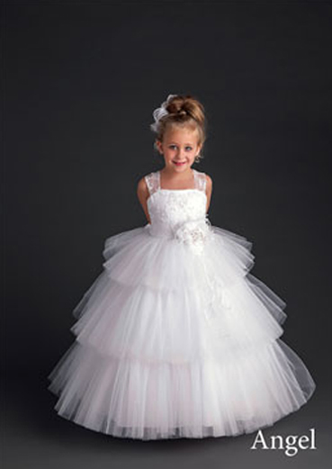 angel flower girl dress