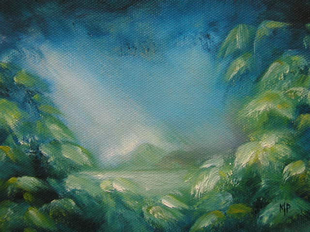 """The Light - 5""""x 7"""" Oil on Stretched Canvas  $45"""