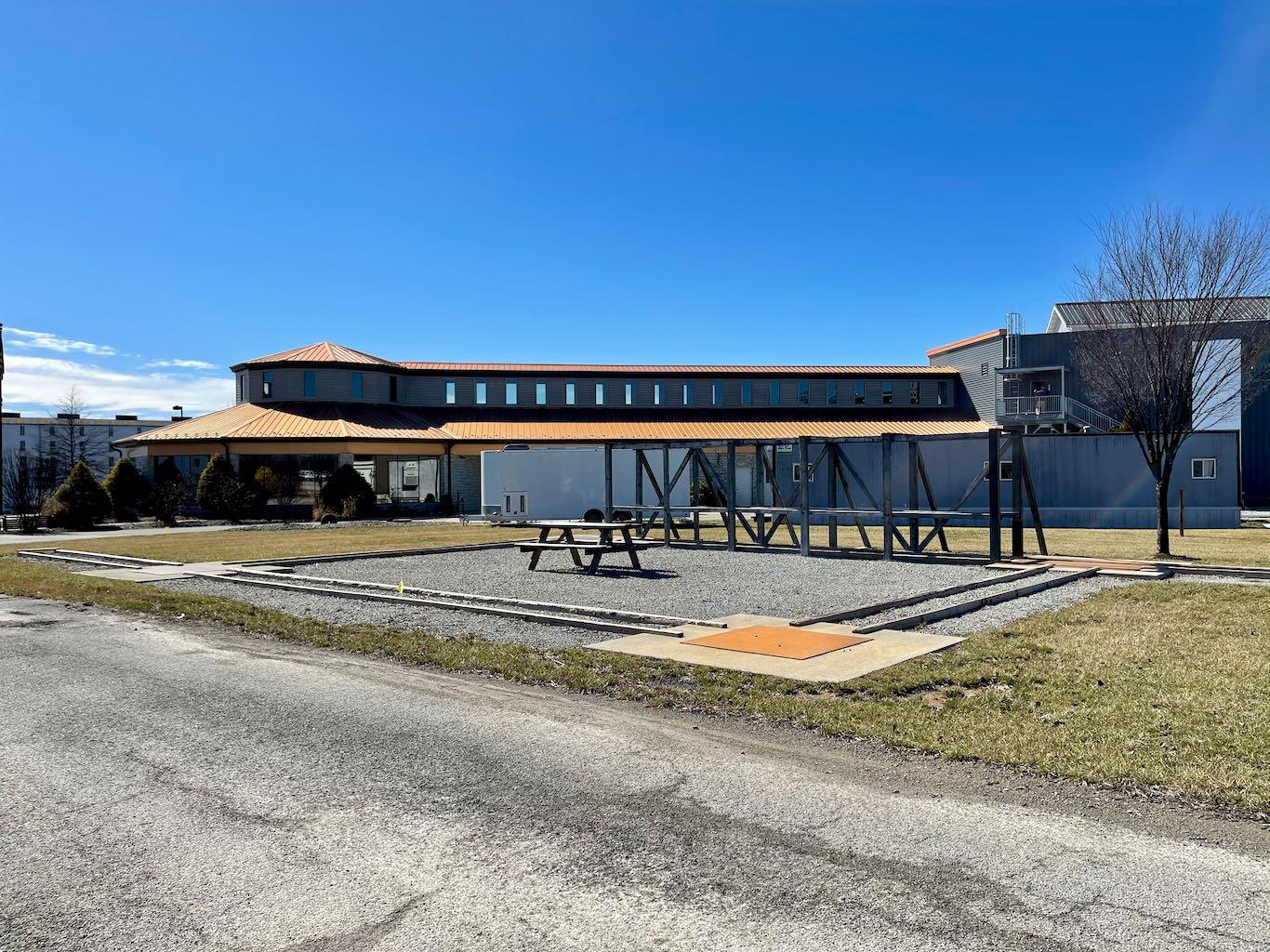 Barrel Rolling Practice Course - Heaven Hill Distillery Bourbon Heritage Center