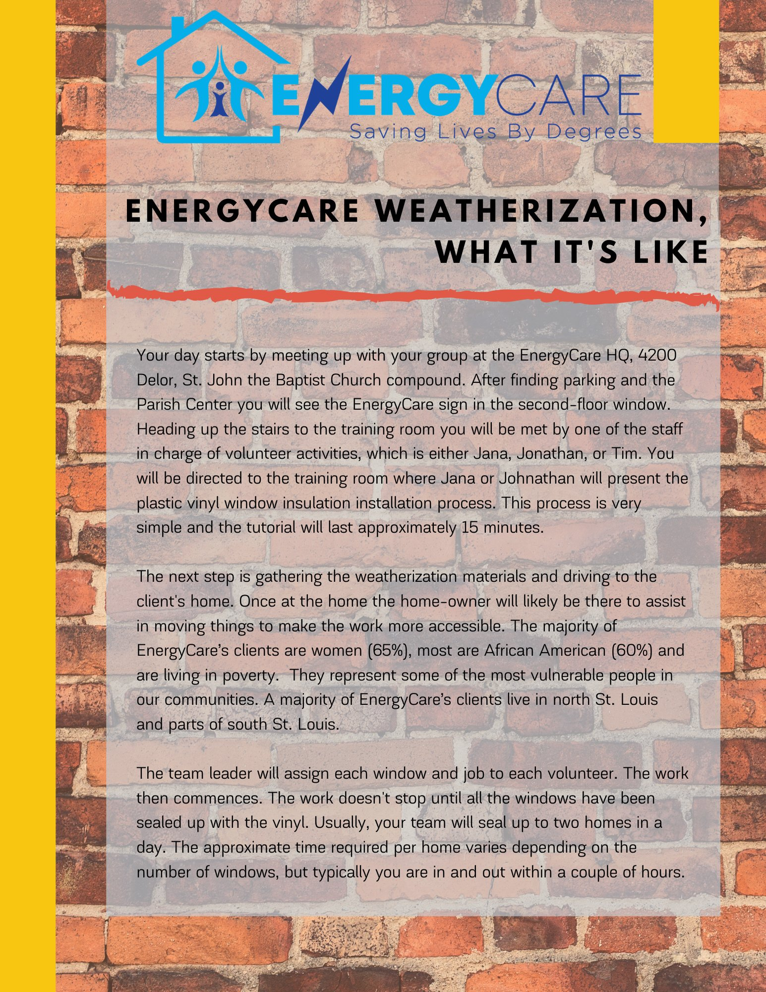 Weatherization, What It's Like!