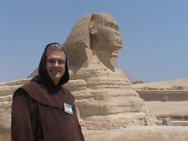 Father James at the Pyramids