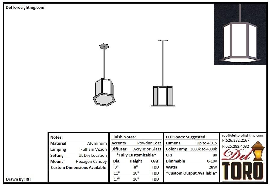 223P-Hex Lantern Pendant