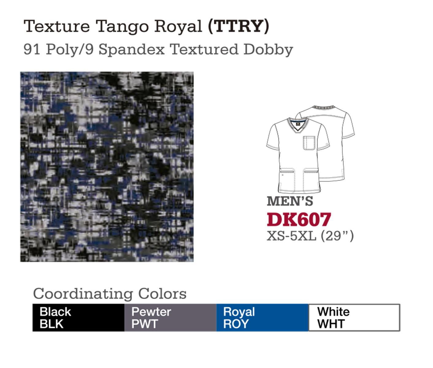 Texture Tango Royal. DK607.