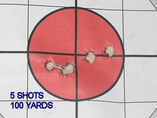 F.J. 5 SHOTS, 100 YARDS