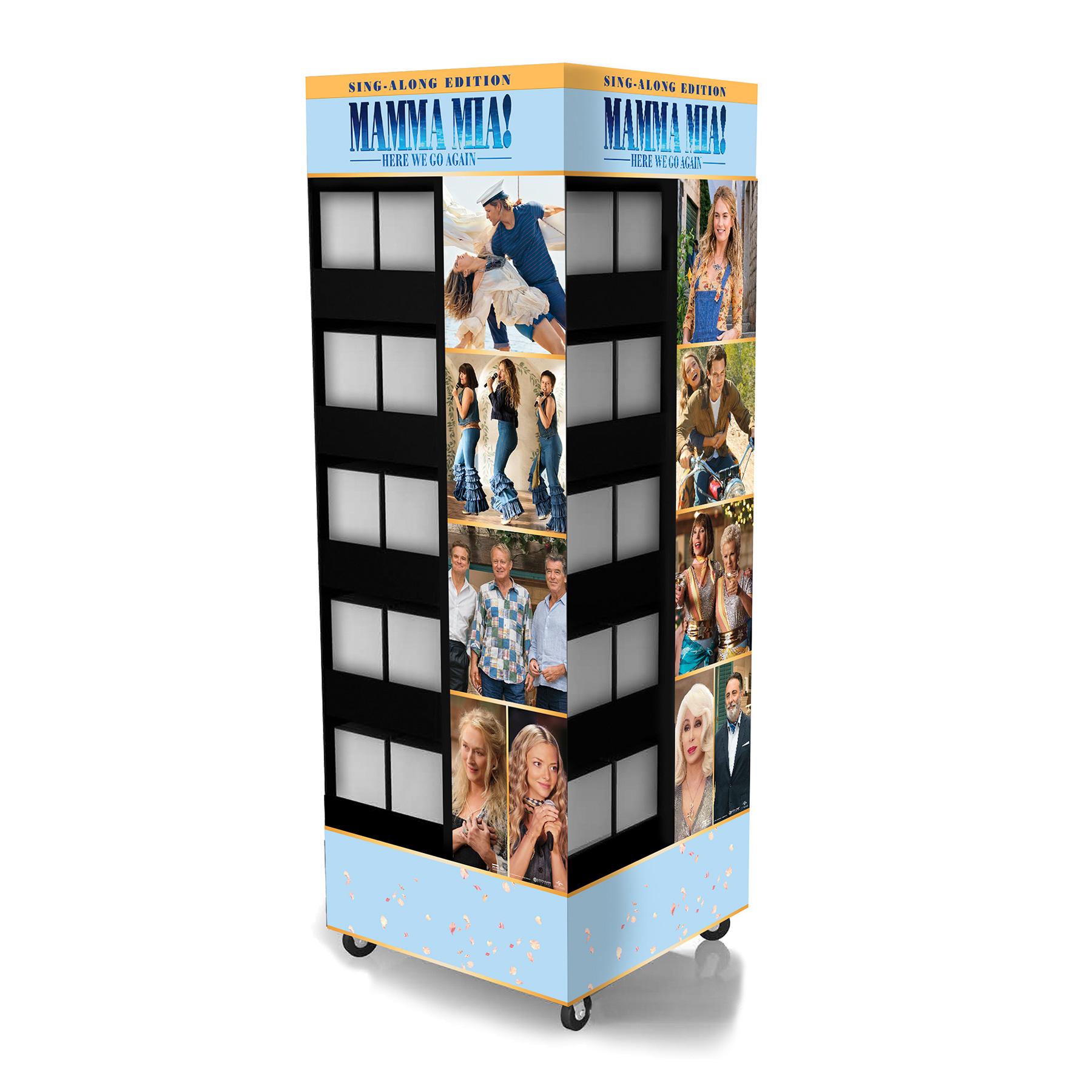 Mamma Mia Rolling Corrugate Display