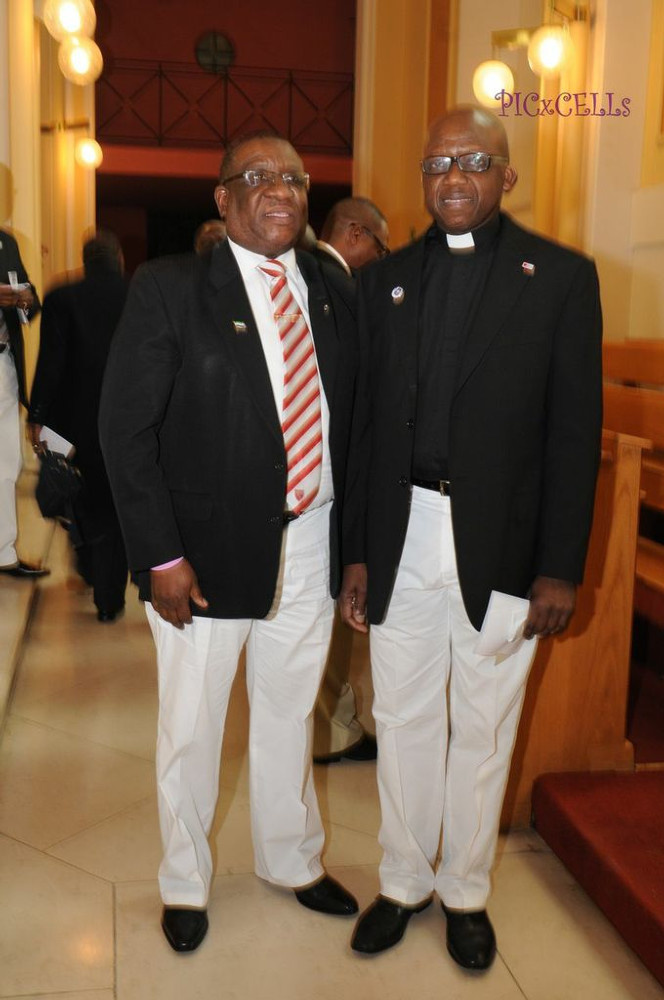 Nikta Leigh and Rev. Cyril Showers