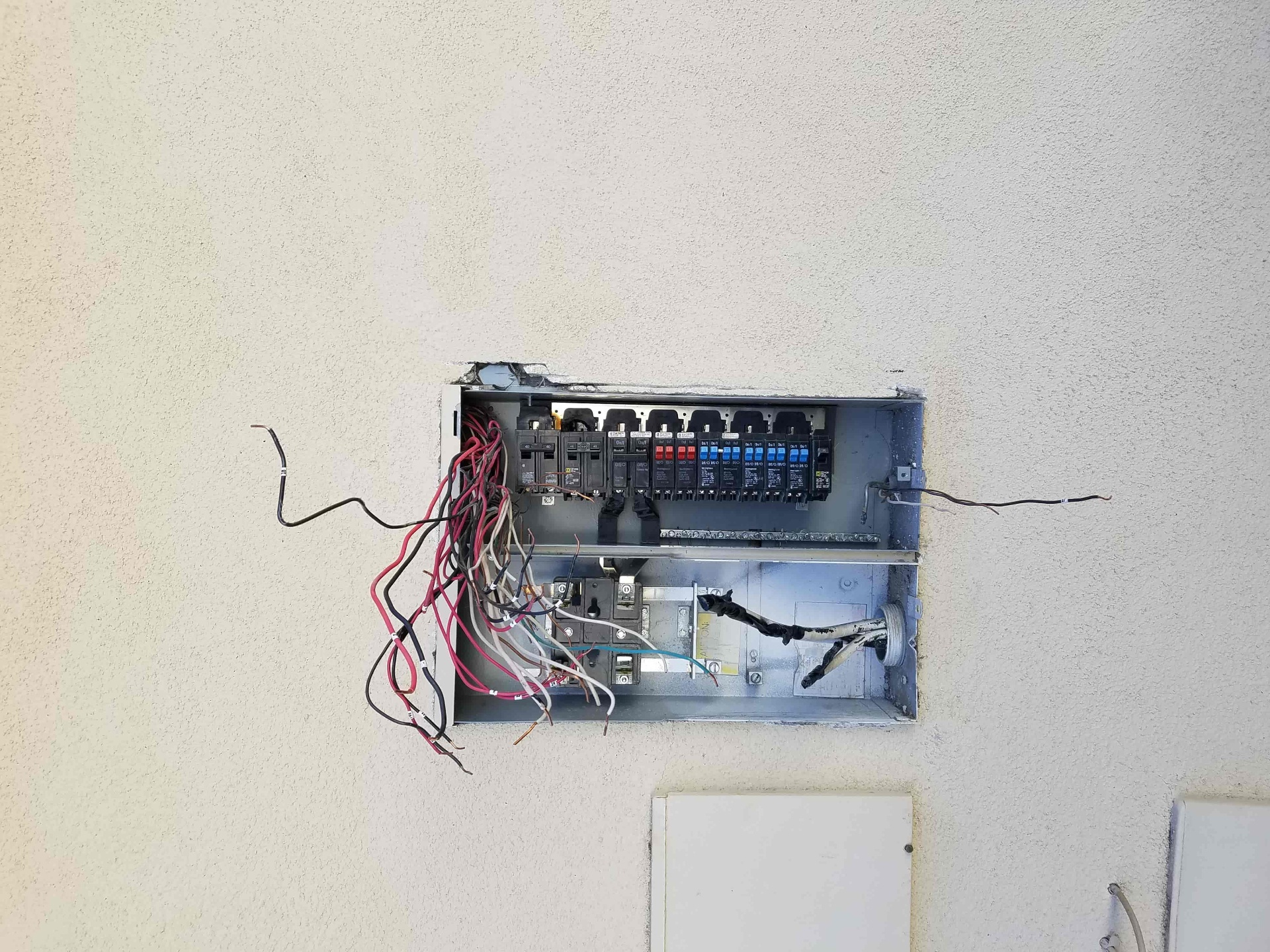 Tangled Electrical Wiring
