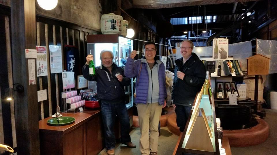Sake shop! Bus trip in Takayama.