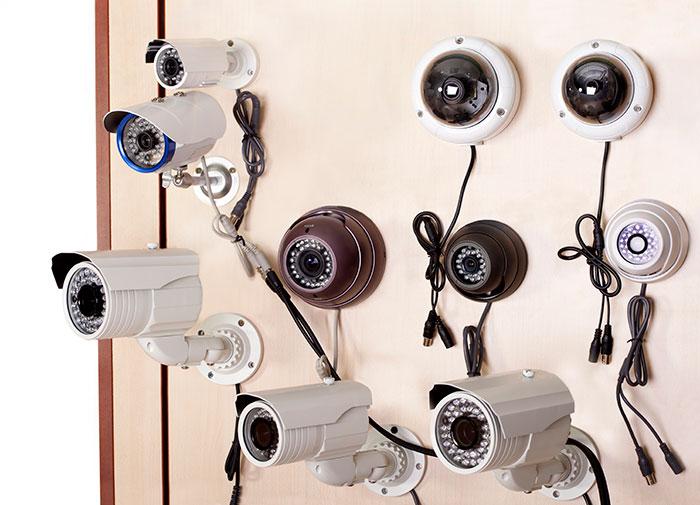 Surveillance cameras in store