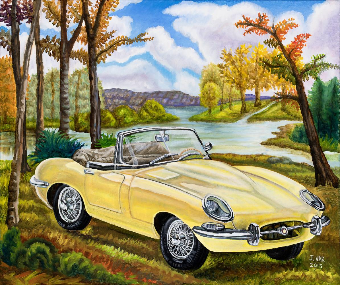 1967 Jaguar 20 X 24 Original Oil        $2200         2015