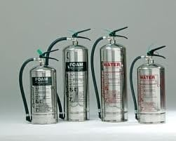 Polished Fire extinguishers