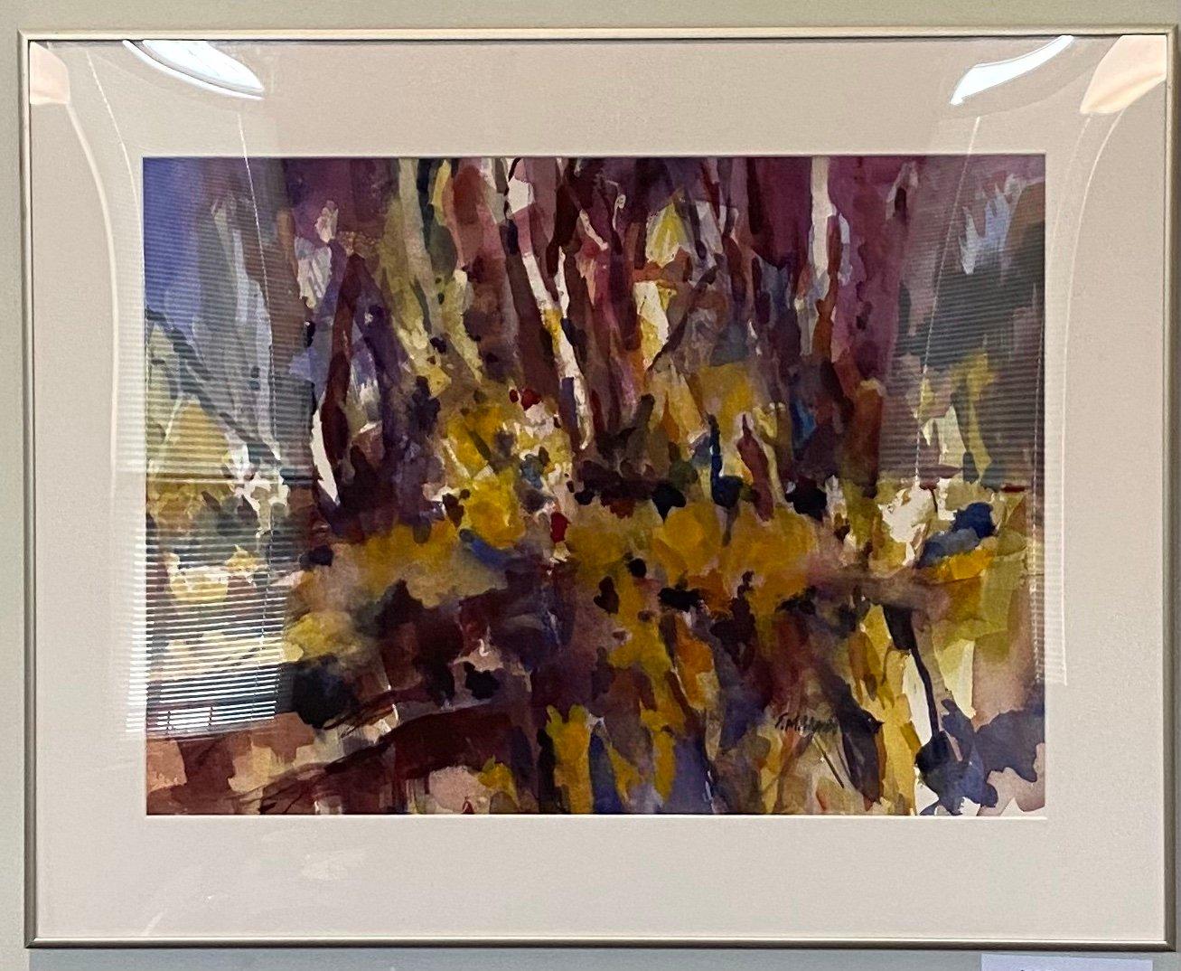 "Along the Way Transparent Watercolor 28.75"" x 23"" $500."