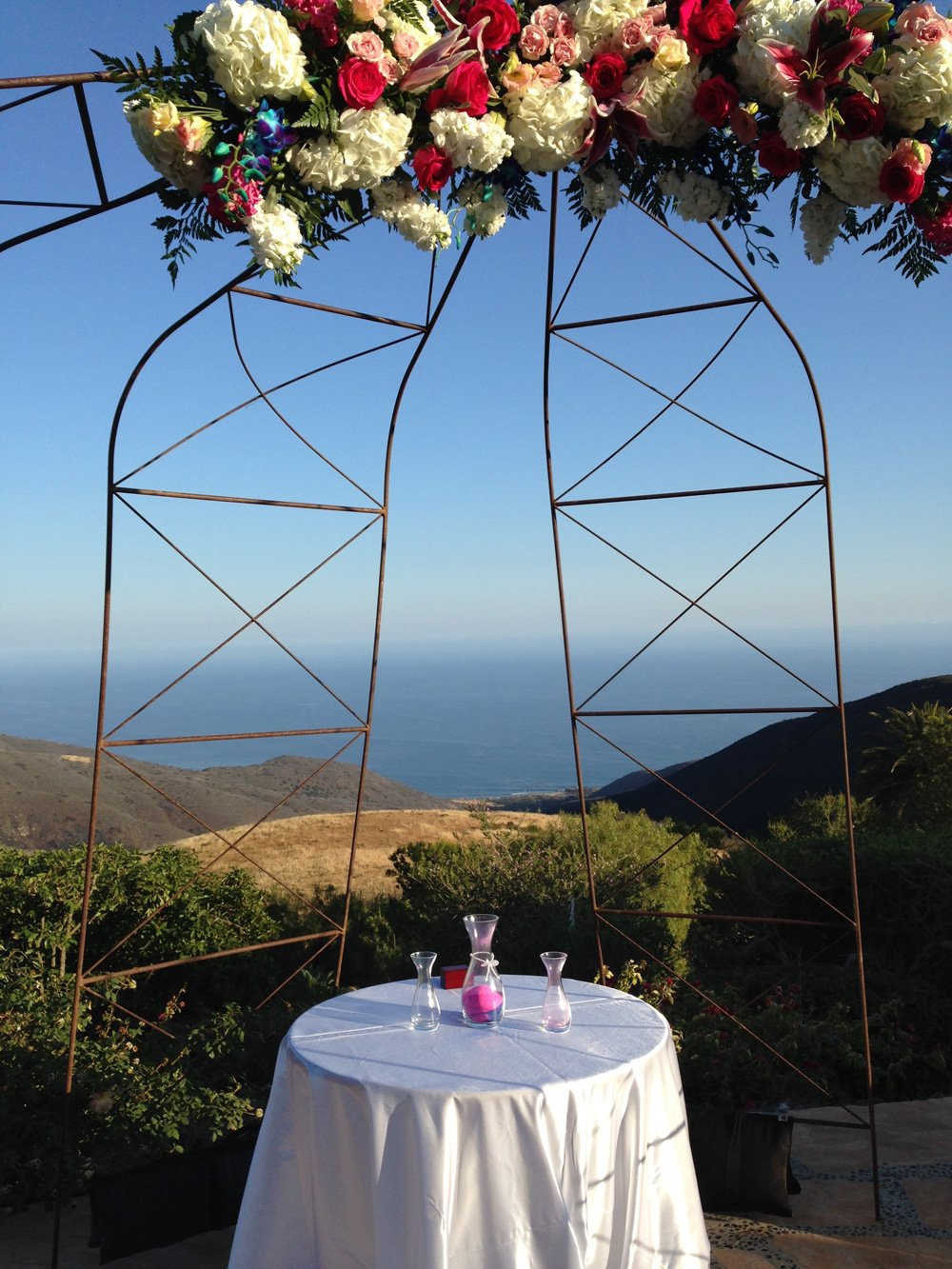 Wedding site for Nurpesh and Jenna, Rancho Sol Del Pacifico, Malibu