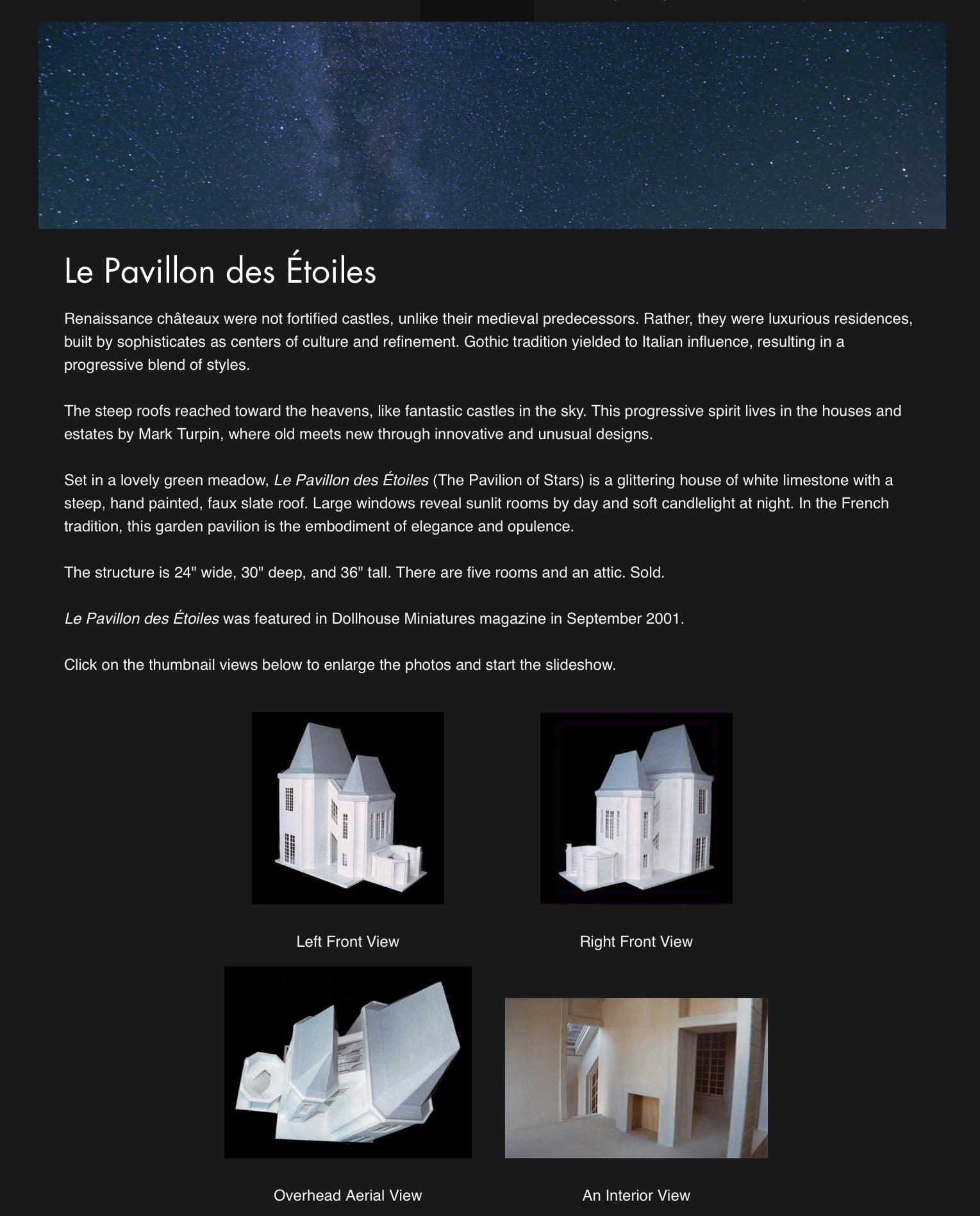 Le Pavillon des Étoiles — 2001