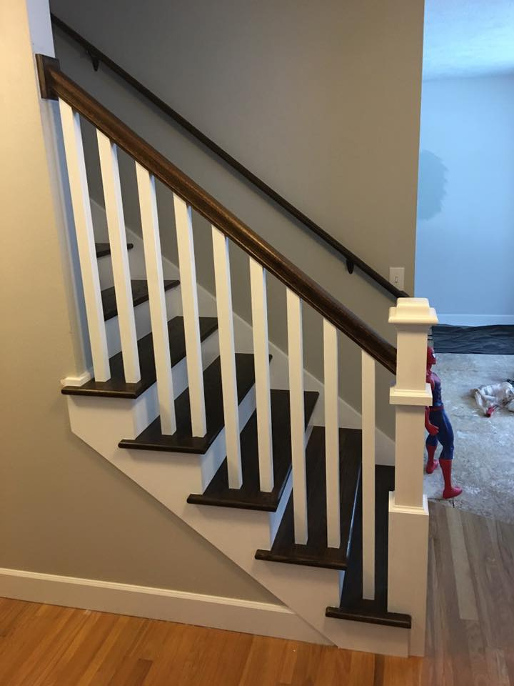 Finished Staircase & Railing