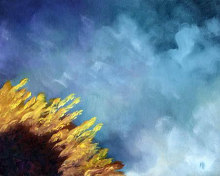 """""""Sun Burst"""" - 8""""x10"""" Oil on Canvas Panel"""