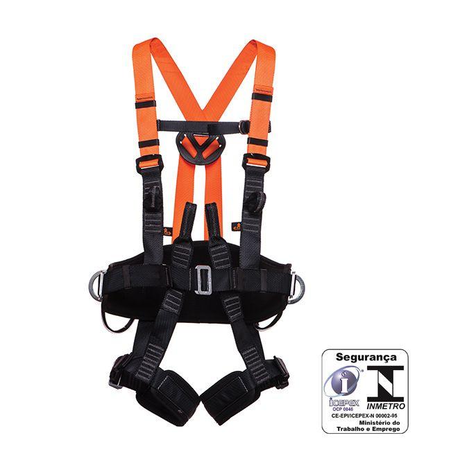 Cinturão paraquedista  abdominal eletricista engate automático