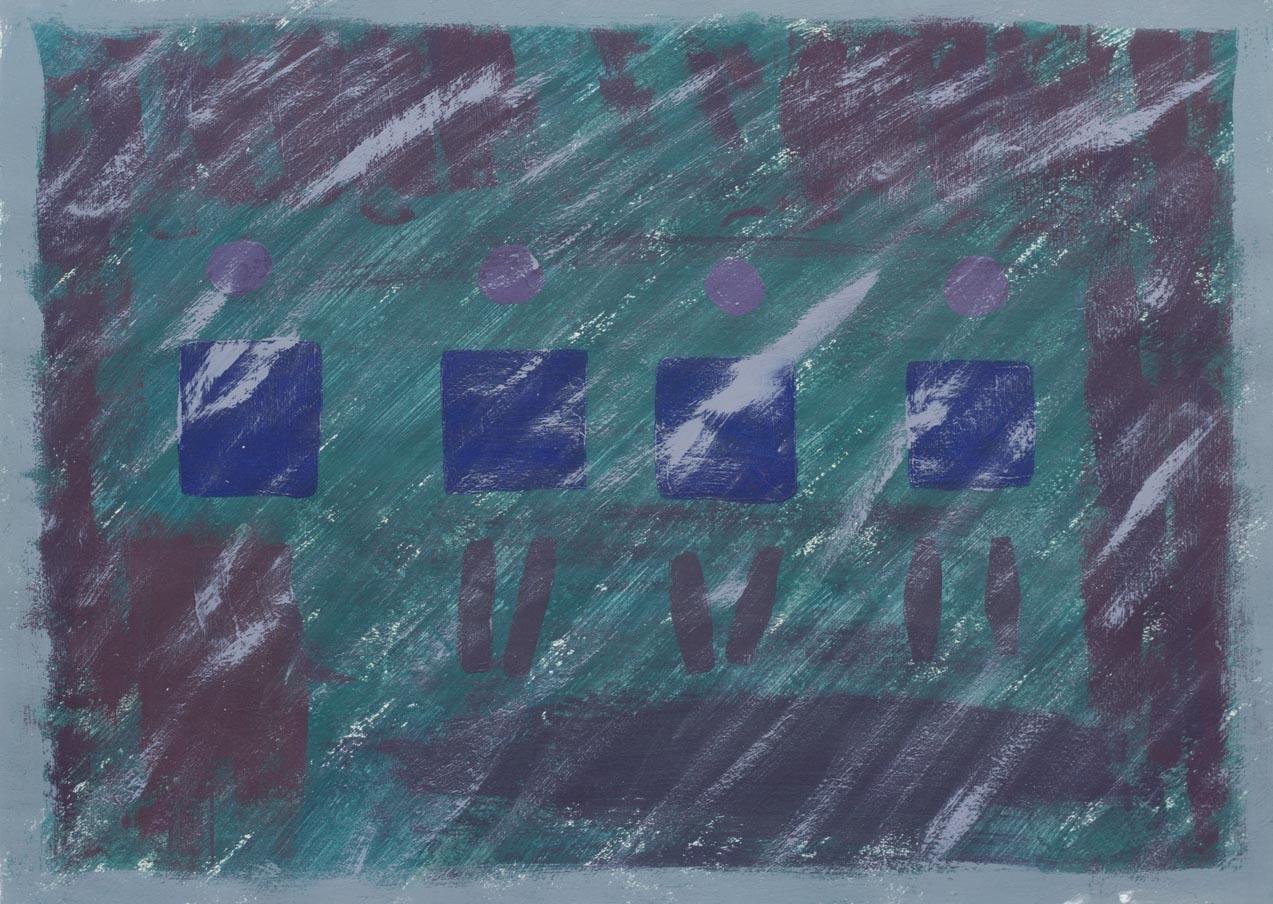 Aparador, 2003 Acrilico sobre papel 24 x 34 cm