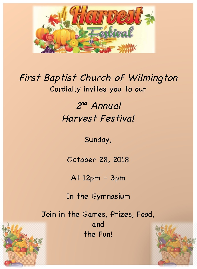 2nd Annual Harvest Festival