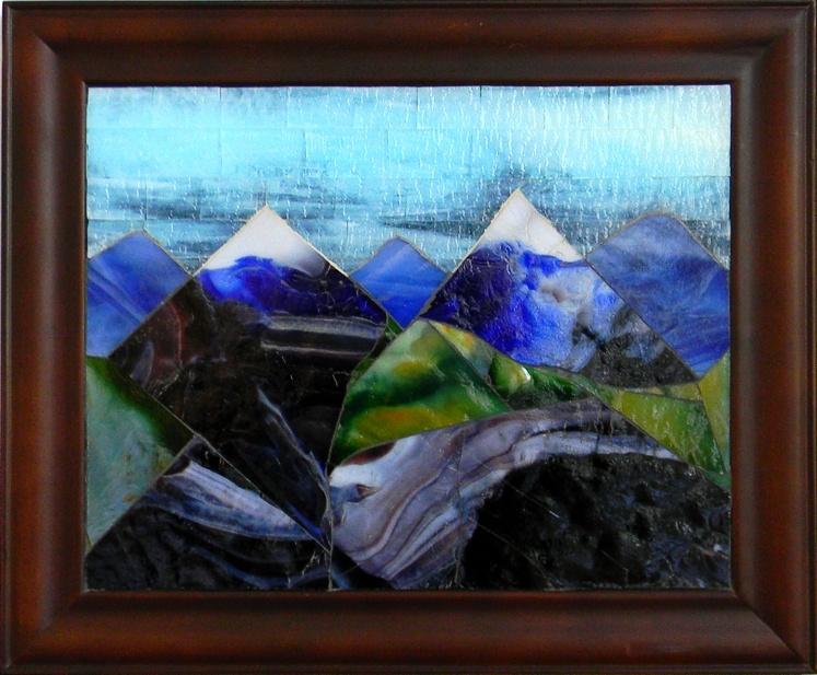 """""""Moutans"""" by Nataliya Guchenia Glass Size - 11""""H X 14""""W $350.00"""