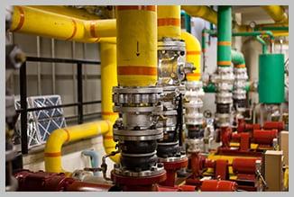 Pumps in boiler room    