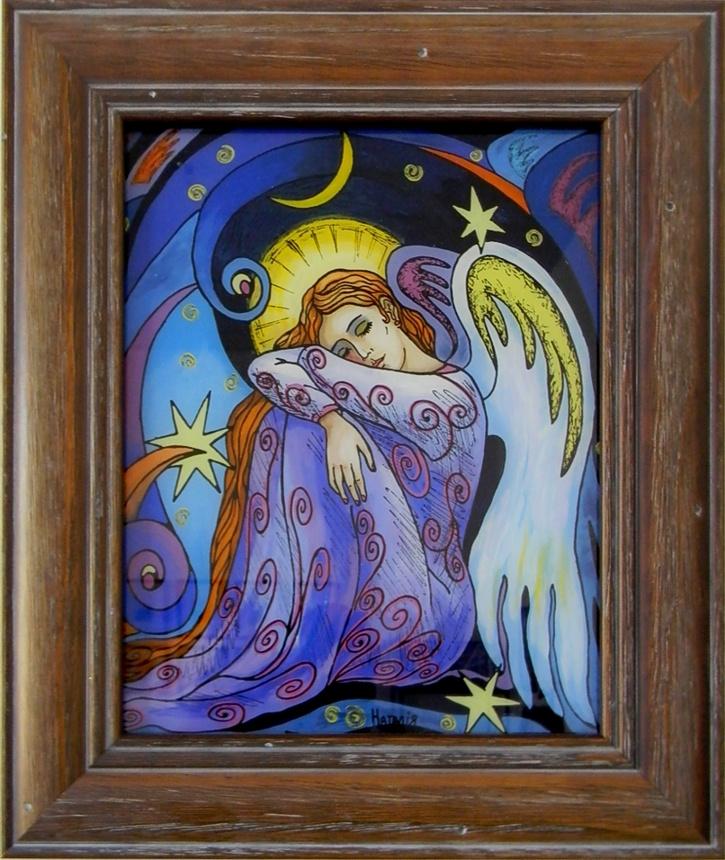 """""""Sleeping Angel"""" by Nataliya Guchenia  Size - 10""""H X 8""""W $175.00"""