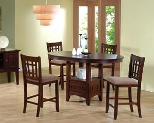 2185 Walnut  counter Ht. Dining Set Table, Chari