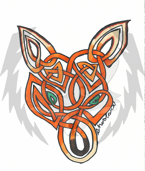 Knotwork Fox Face