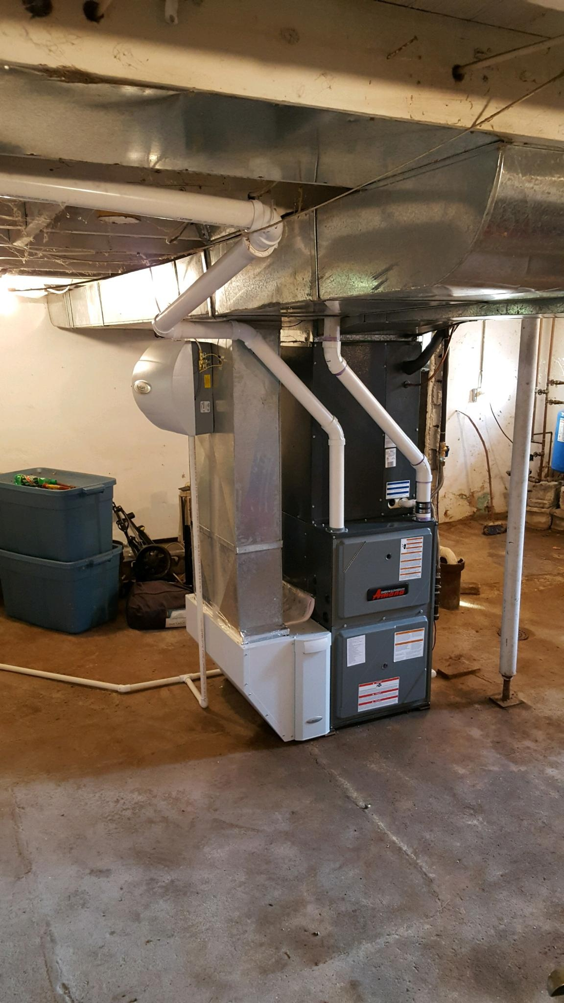 A very clean furnace installation!