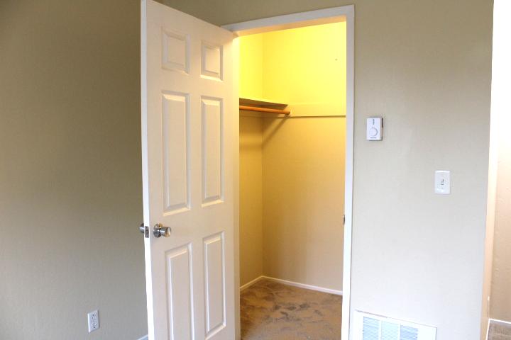 Walk-in closet in second bedroom