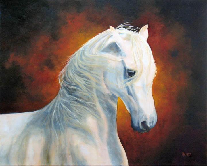 "White Magic 16"" x 20"" oil on canvas"
